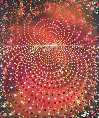 Barbara Takenaga, Lines of Force (red), 2013.