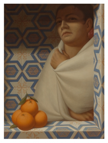 George Tooker, Woman with Oranges, 1977