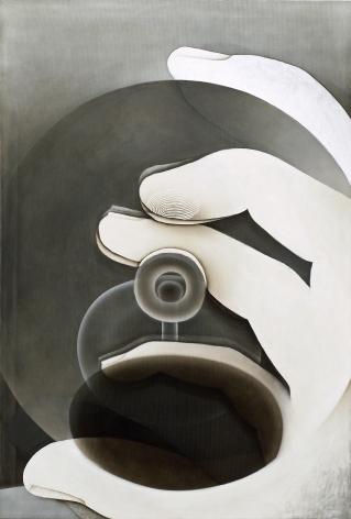 Fingerprint, 2013 Acrylic on nylon mesh
