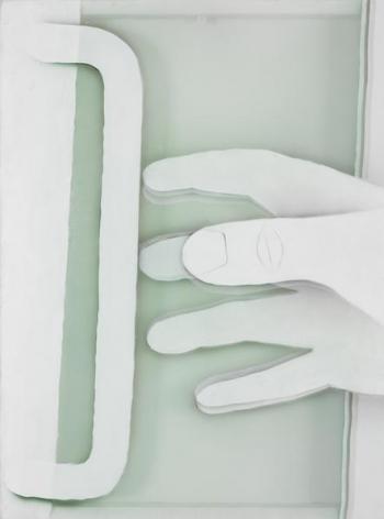 Pull, 2015 Acrylic on nylon mesh