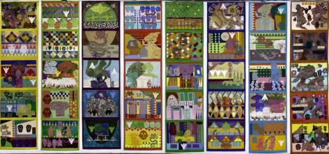 Joyce Kozloff, Voyages: Carnevale I-VIII, 2004-06