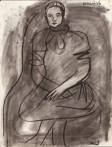 Seated Woman Wearing a Dress, 1966