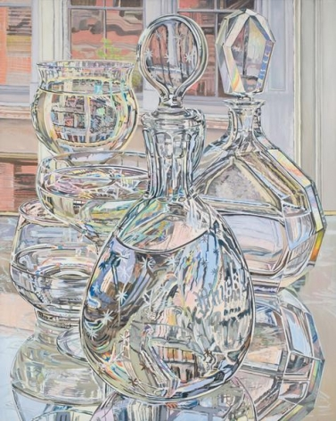 Afternoon Reflections, June and September, 1978. Oil on linen, 60 x 48 in.