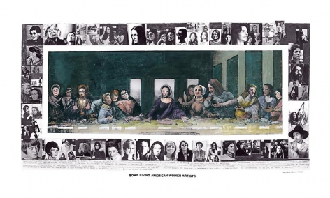 Mary Beth Edelson, Some Living American Women Artists/Last Supper, 1972-2012.