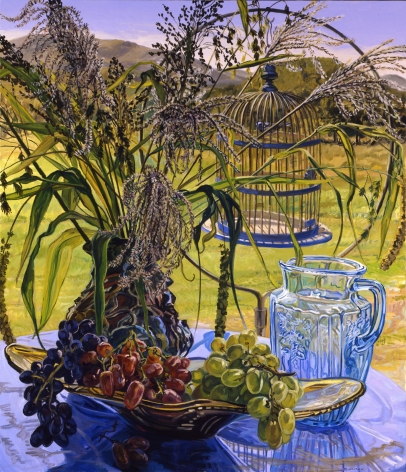 Janet Fish Grasses and Blue Bird Cage, 2005