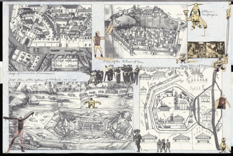 Boys' Art #21: Ottoman Campaigns, 2001-02, Mixed media on paper