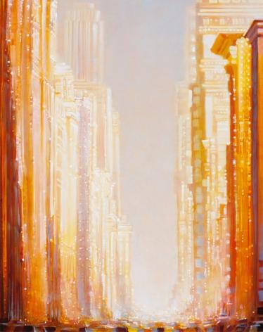 Gateway, 2014 Oil on panel in the artist's handmade frame