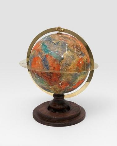 Liz Glynn. Celestial Globe 44N11E (after Plato), 2013. Plaster, ink, acrylic, and wood, 20 x 14 x 14 in.