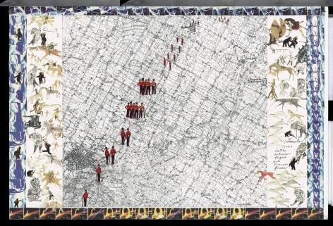 Boys' Art #4: Imola, 1797, 2001-02, Mixed media on paper