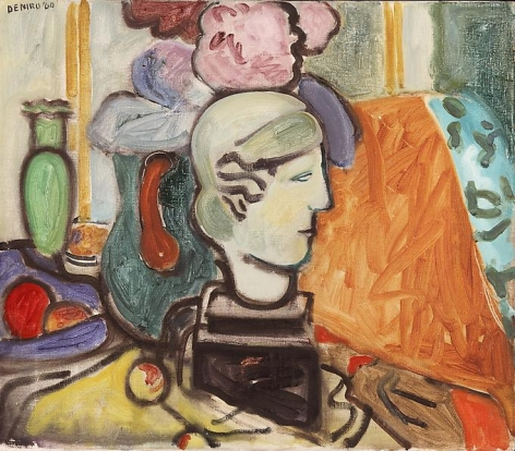 Studio Still Life with Head of Woman, 1960
