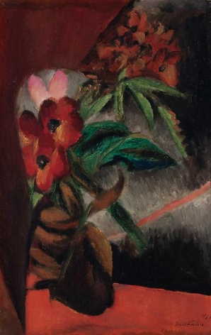 Flowers on Red Base, 1921