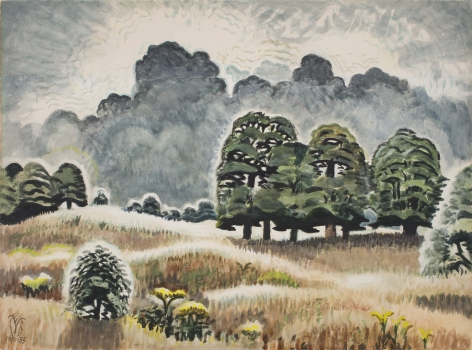 Charles Burchfield Lightning at Twilight, 1950-55