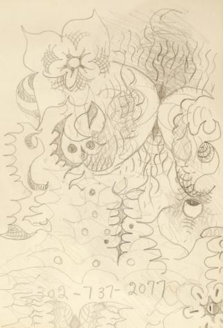 Doodle 2, n.d., Pencil on paper