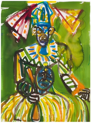 Carnival Jumbie Man, 1984-87, Watercolor on paper