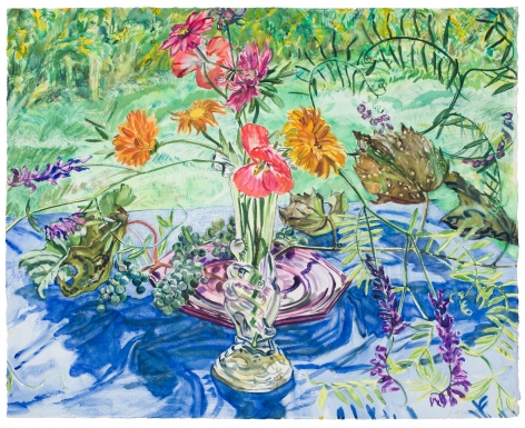 Janet Fish Wild Grapes and Flowers, 1988