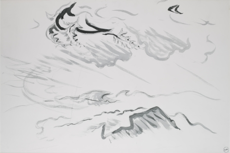 Wind, c. 1960, Ink and charcoal on paper