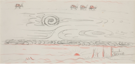 Doodle 1, n.d., Colored pencil on paper