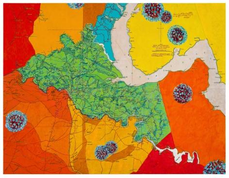 Uncivil Wars:Battle of Chancellorsville, 2021, Acrylic on canvas