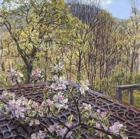 Apple Blossoms/Spring Trees, 2008, Oil on canvas