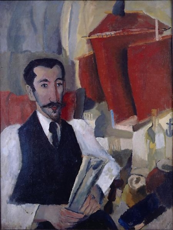 Man with Ship Model, 1918