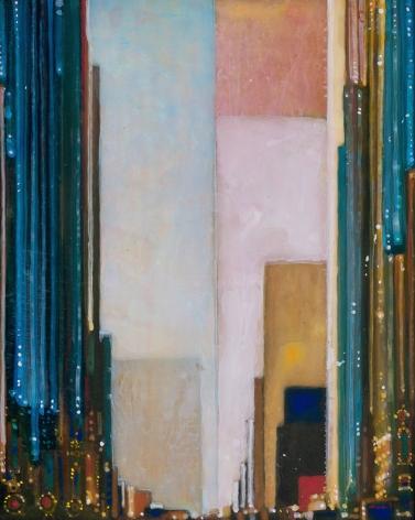 Encore, 2018 Acrylic on panel in the artist's handmade frame