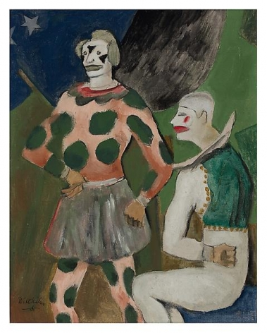 Clowns, 1925 Oil on linen, 15 x 12 inches