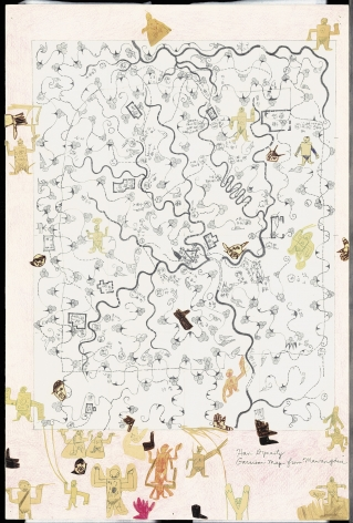 Boys' Art #13: Han Dynasty Garrison Map, 2001-02, Mixed media on paper