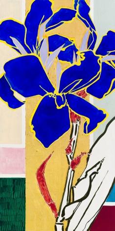 Canna Lapis, 2020, Oil, acrylic, and gold leaf on canvas