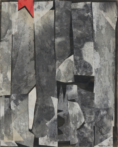 Untitled, 1963 Mixed media collage on painted board