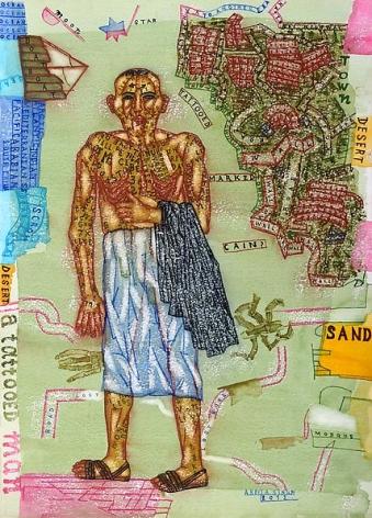 Arpita Singh, Cain (?) the Wanderer, 2012