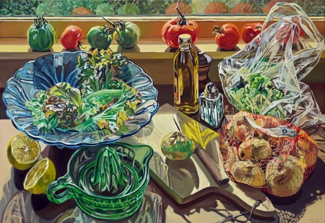 Salad Fixings, 1983, Oil on linen