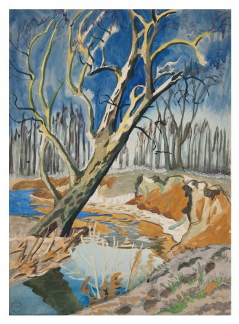 Charles Burchfield Tree and Brook, c. 1917