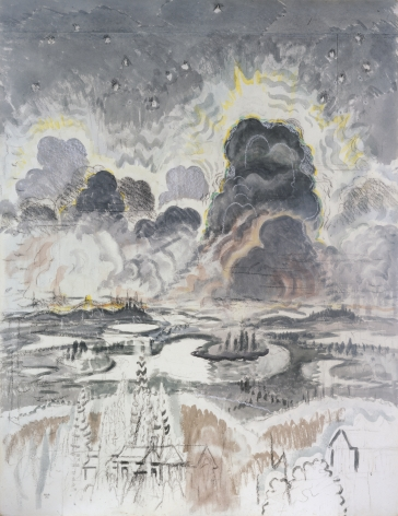 Charles Burchfield Heat Lightning (also known as Landscape with Gray Clouds), c. 1962