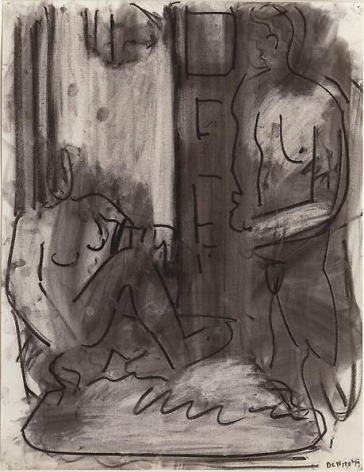 One Seated and One Standing Figure, 1979