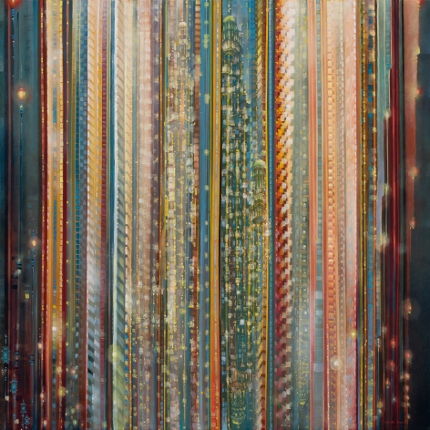 Spectra, 2018 Oil on canvas in the artist's handmade frame