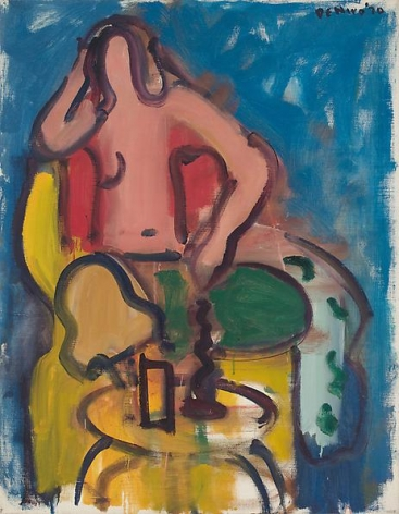 Seated Nude with Green Pants, 1970