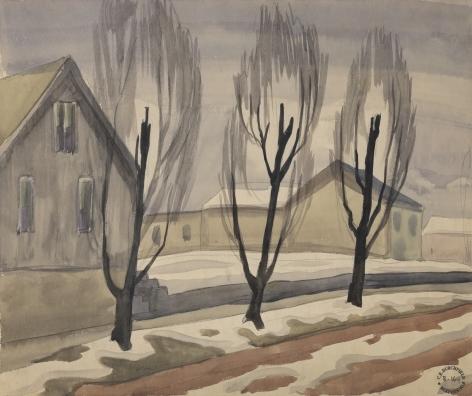 Three Trees on the Road, c. 1917