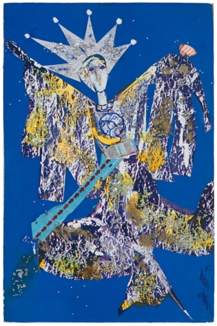 Bayou Fever, Star (Star from the Heavens), 1979, Collage and acrylic on fiberboard
