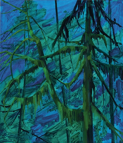Tree and Night, 2016, Oil on canvas