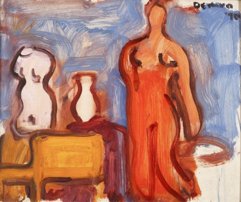 Studio Interior with Torso, Vase, Chair and Nude, 1970