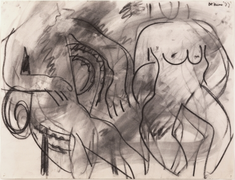 Two Seated Figures, 1977