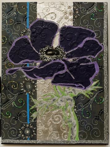 Robert Kushner Dark Purple Anemone Night Sky, 2018