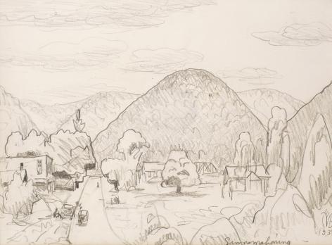 Sinnamahoning, Pennsylvania, 1939, Graphite on paper
