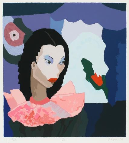 Girl, 2004 Silkscreen on paper,