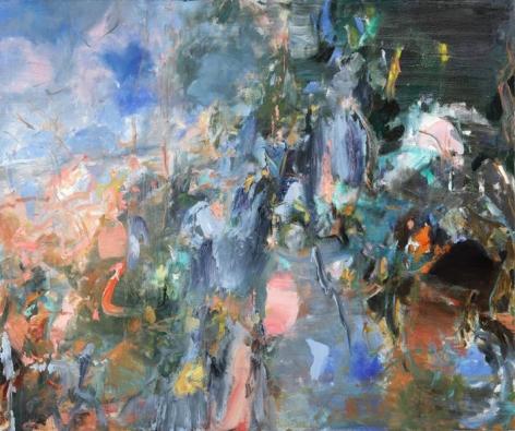Branch, 2014. Oil on linen, 50 x 60 in.