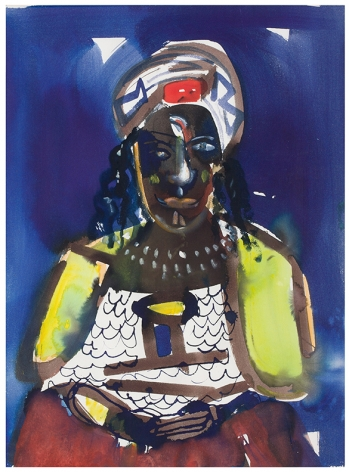 Obeah Woman, 1984-86, Watercolor on paper