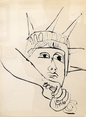 Ben Shahn, Liberty Down Torch, c. 1952