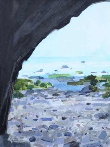 Cave and Beach, 2016, Mixed media on paper