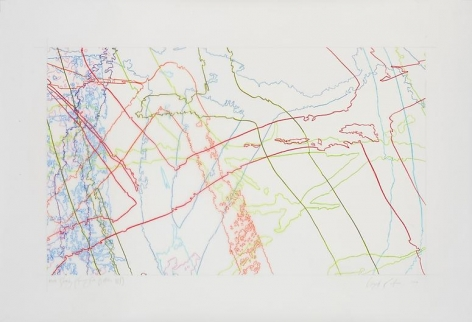 Ingrid Calame, #305 Drawing (Tracings from Buffalo, NY), 2008