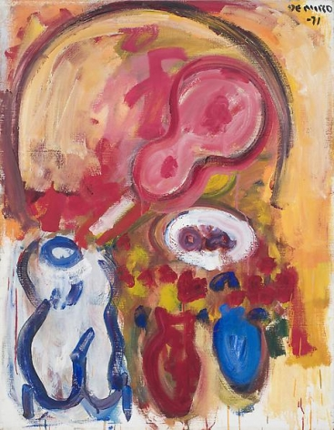 Still Life with Guitar, Torso, and Two Vases, 1971